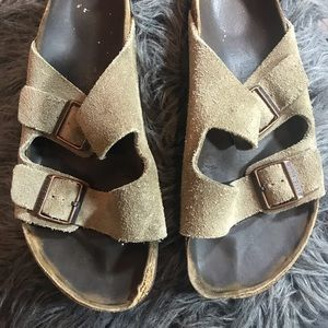 Mens Tan Strap Birkenstocks